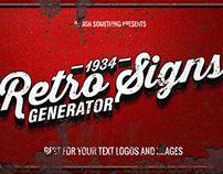 Retro Signs Generator