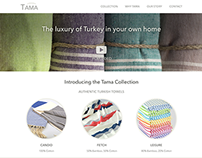 Tama Towels | Responsive Website Redesign