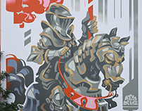 Knight. Mural for @awallmuralprojects in Miami, FL