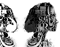 Literary Mind | Typography Bust Photo Composite