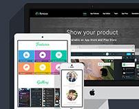 Renova - Startup App Landing Page
