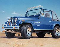 Jeep CJ-7, car illustration (1994)
