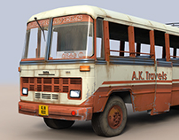 Tata 1510 transport bus (3d Model and Texture)