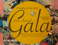 Poverty & The Arts - Gala Poster Original Design