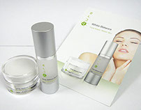 Aura Skin Care Packaging and Brochures
