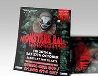 VBar Halloween poster