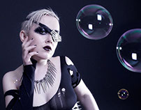 Gore Couture, bubbles and spikes photo shoot