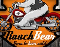 RauchBEAR - Ilustração para rótulo de cerveja.