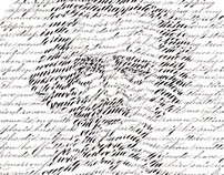 Calligraphed Poe-trait