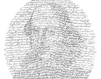 Shakespeare- Calligraphed Portrait