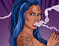 Tattoo Girl Illustration (Sprayground Backpack)