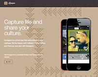 Kavagram App Landing Page