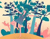 Pink Lagoon Illustrations