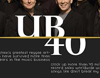 UB40 Concert Announcement in Spread Magazine