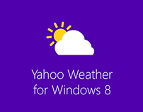 Concept UI Design of Yahoo Weather for Windows 8