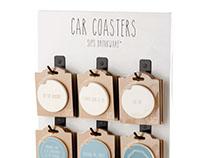 Sips Car Coasters