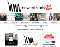 New Mills Arts FEST website design