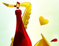 Poster Jazz-wine