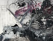"""Severed"" Inspired by Gerhard Richter"