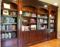 Mahogany Library Bookcase
