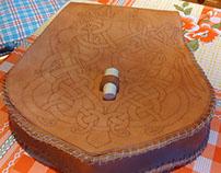Viking knotwork on belt pouch