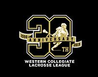 Western Collegiate Lacrosse League Anniversary Logo