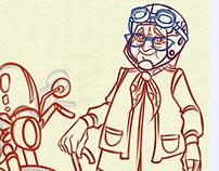 Necla Teyze Character Design