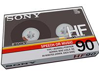 Sony HF90 Cassette Tape
