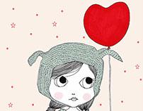 Heart balloon illustration