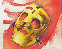 Watercolours Series - Vintage Goalie Masks