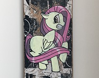 Recycled Skateboard Art- Fluttershy