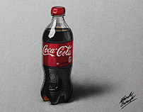 Coca-Cola plastic bottle drawing