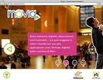 Moviq. Studio e progettazione grafica del sito lancio