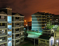 Architectural night photography