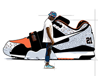 Nike and Man trainer illustration