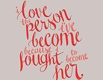 """I Love..."" (Quote Illustration)"