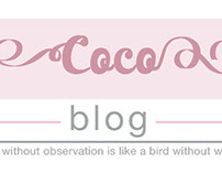 Coco blog logo re-design and re-branding