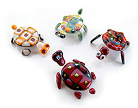 Fused glass turtles