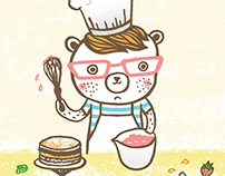 Ginger Bear- Greeting Card design
