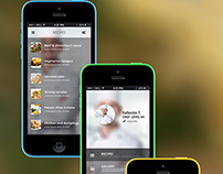 Cooking App UI - PSD