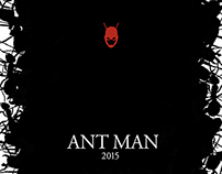 Minimalist Movie Poster Concept - ANT MAN 2015