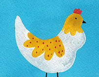 Chicken Salad Editorial Illustation
