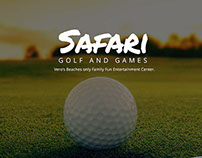 Safari Golf and Games Web Design