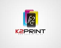 """Branding for """"K2 Print"""""""