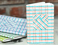 Block Printed Plaid Notebooks