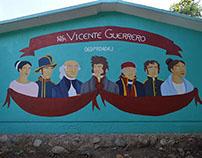 mural héroes de la independencia