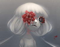 illustration- Red Flower