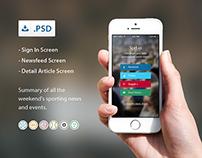 Sprt.io Apps Concept iOS
