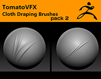 TomatoVFX - Cloth Draping Brushes Pack 2 for ZBrush