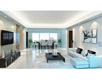 Godrej Serenity - Living Room Visualization